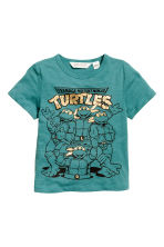T-shirt con stampa - Turchese scuro/Turtles - BAMBINO | H&M IT 2