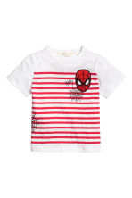 T-shirt avec impression - Blanc/Spiderman - ENFANT | H&M FR 2