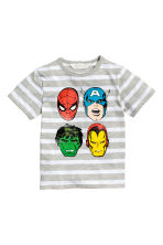 Printed T-shirt - Grey/Marvel Comics - Kids | H&M 2