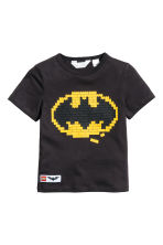 Printed T-shirt - Black/Lego - Kids | H&M CN 2