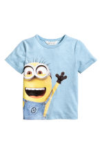 Printed T-shirt - Light blue/Minions - Kids | H&M CN 2