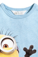 Printed T-shirt - Light blue/Minions - Kids | H&M 3