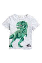 Printed T-shirt - Light grey/Jurassic World -  | H&M CN 2