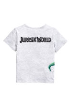Printed T-shirt - Light grey/Jurassic World - Kids | H&M 3