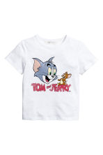 圖案T恤 - White/Tom and Jerry - Kids | H&M 2