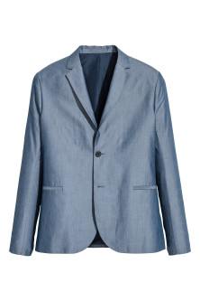 Blazer in chambray Slim fit