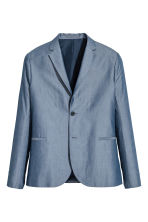 Chambray jacket Slim fit - Blue - Men | H&M CN 2