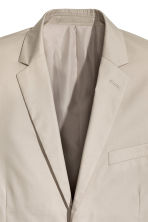 Cotton-blend jacket Slim fit - Light beige - Men | H&M CN 3