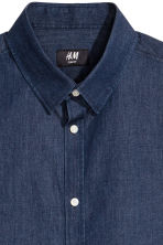 貼身短袖襯衫 - Dark denim blue - Men | H&M 3