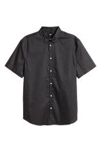 Short-sleeved shirt Slim fit - Anthracite grey - Men | H&M 2