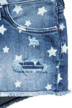 Patterned denim shorts - Denim blue/Star -  | H&M 5