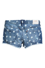 Patterned denim shorts - Denim blue/Star -  | H&M 3