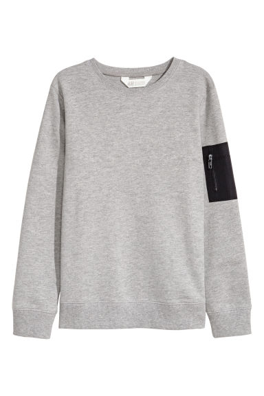Printed sweatshirt - Grey marl -  | H&M 1