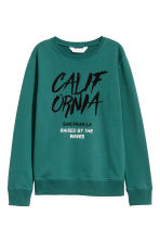 Printed sweatshirt - Petrol green - Kids | H&M CN 2