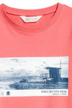 Sweat avec impression - Rose corail - ENFANT | H&M FR 2