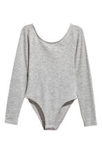 Long-sleeved body - Grey - Ladies | H&M 2