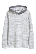 Jersey hooded top - Grey marl -  | H&M 2