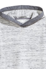 Jersey hooded top - Grey marl -  | H&M 3