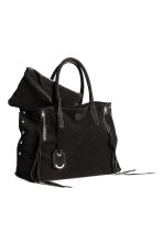 Suede shopper - Black - Ladies | H&M 2
