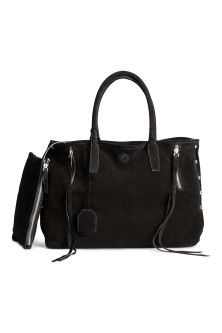 Bolso shopper de ante