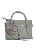 Suede shoulder bag - Grey - Ladies | H&M CN 1