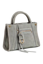 Suede shoulder bag - Grey - Ladies | H&M CN 2