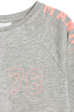 Printed jersey top - Grey marl - Kids | H&M 3