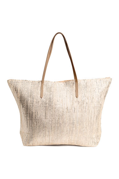 Shopper - Light beige/Glittery -  | H&M