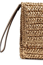 Straw clutch bag - Gold - Ladies | H&M CN 3
