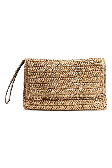Straw clutch bag - Gold - Ladies | H&M 1