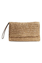 Straw clutch bag - Gold - Ladies | H&M CN 1