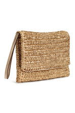 Straw clutch bag - Gold - Ladies | H&M 2