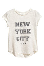 Printed jersey top - Light beige/New York - Kids | H&M CN 2