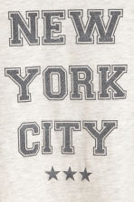 Printed jersey top - Light beige/New York - Kids | H&M CN 3