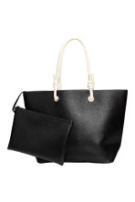 Shopper and clutch - Black - Ladies | H&M 1
