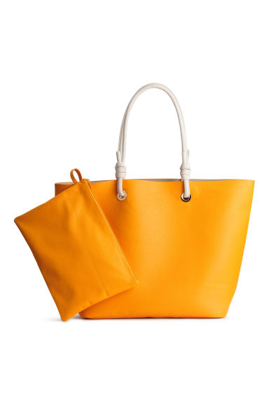 Shopper and clutch - Orange - Ladies | H&M 1