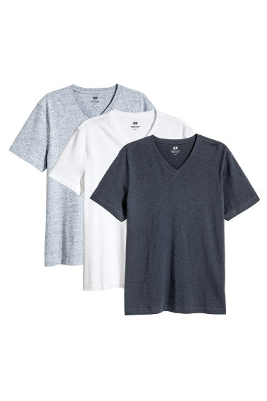 T-shirt Regular fit, 3 pz - Blu scuro/bianco -  | H&M IT 1
