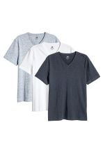 3-pack T-shirts Regular fit - Dark blue/White -  | H&M 1