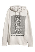 Printed hooded top - Grey/Joy Division - Ladies | H&M 2