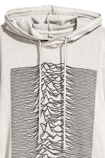 Printed hooded top - Grey/Joy Division - Ladies | H&M 3