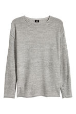 Cotton-blend jumper - Grey marl - Men | H&M 2