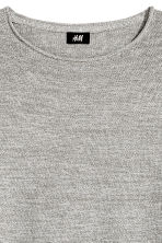 Cotton-blend jumper - Grey marl - Men | H&M 3