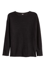 Cotton-blend jumper - Black - Men | H&M 2