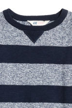 Fine-knit cotton jumper - Dark blue/Striped - Kids | H&M CN 2