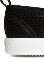 Slip-on mesh trainers - Black -  | H&M 3