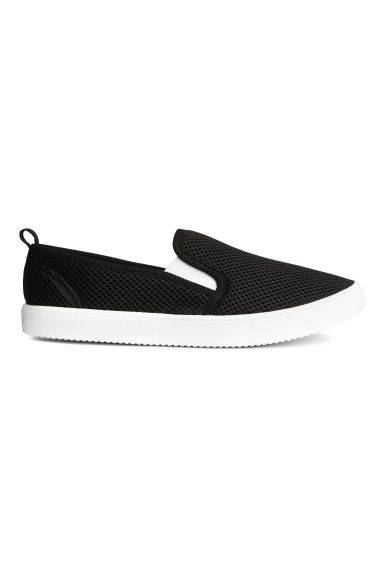 Slip-on mesh trainers - Black -  | H&M 1