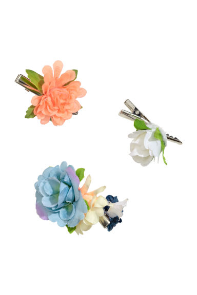 3-pack hair clips - Blue - Kids | H&M