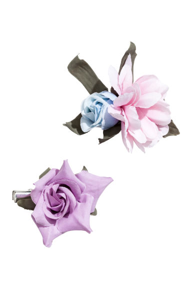 2-pack hair clips - Purple -  | H&M 1