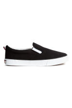 Slip-on canvas trainers - Black - Kids | H&M 1