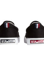 Sneakers slip-on in tela - Nero - BAMBINO | H&M IT 3